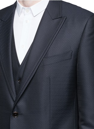 - Dolce & Gabbana - Zigzag jacquard wool-silk satin three-piece tuxedo suit