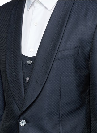- Dolce & Gabbana - Diamond jacquard wool-silk three piece tuxedo suit