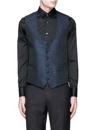 Detail View - Click To Enlarge - Dolce & Gabbana - 'Martini' stripe jacquard tuxedo blazer and waistcoat set