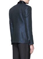 'Martini' stripe jacquard tuxedo blazer and waistcoat set