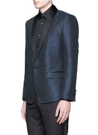 Front View - Click To Enlarge - Dolce & Gabbana - 'Martini' stripe jacquard tuxedo blazer and waistcoat set