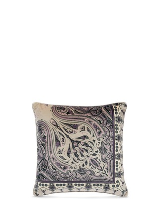 Main View - Click To Enlarge - Etro - Hamilton Mooers floral paisley print velvet cushion