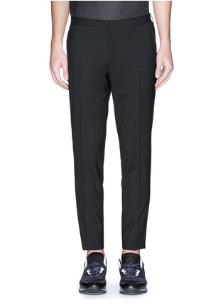 Main View - Click To Enlarge - Lanvin - Velvet trim slim fit stretch wool pants