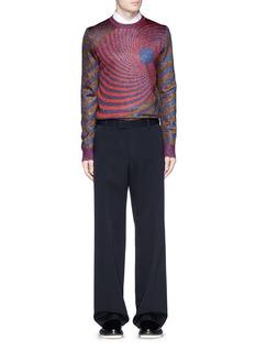 MAISON MARGIELA'Spiral' jacquard birdseye lamé sweater
