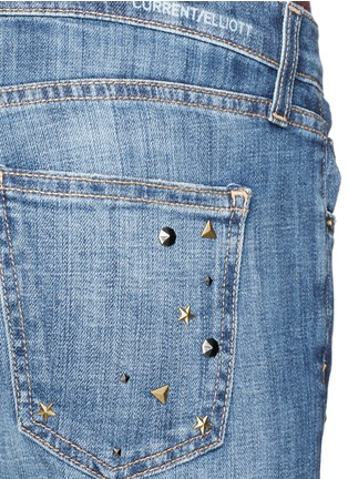 Detail View - Click To Enlarge - Current/Elliott - 'The Fling' stud jeans