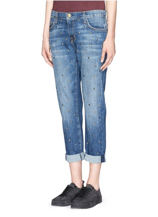 Front View - Click To Enlarge - Current/Elliott - 'The Fling' stud jeans