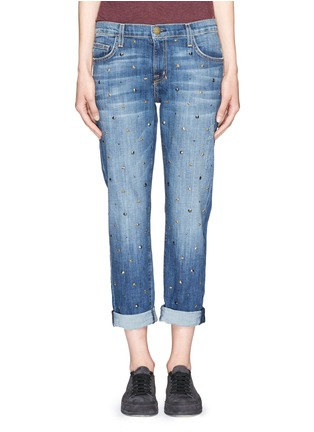 Main View - Click To Enlarge - Current/Elliott - 'The Fling' stud jeans