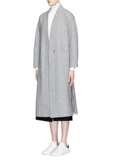 MO&CO. EDITION 10 Longline robe wool overcoat