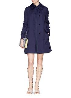 ValentinoCotton-linen A-line coat