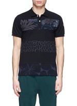 'Maglia' floral leopard stripe polo shirt