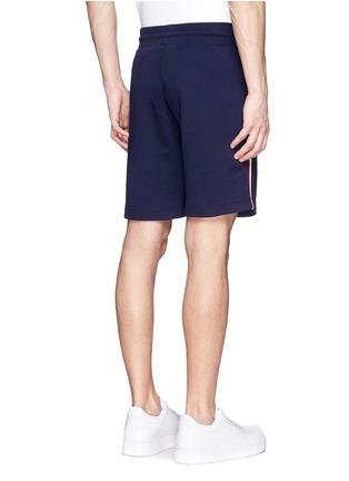 背面 - 点击放大 - MONCLER - 条纹拼贴纯棉休闲短裤