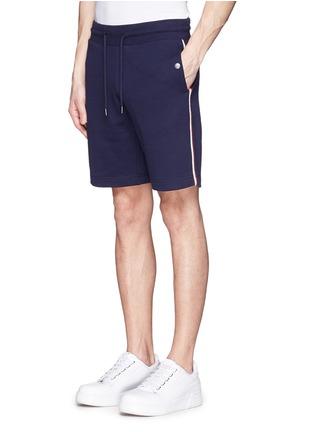 正面 -点击放大 - MONCLER - 条纹拼贴纯棉休闲短裤