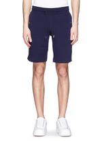 条纹拼贴纯棉休闲短裤