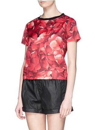 Front View - Click To Enlarge - Moncler - Flower print nylon top