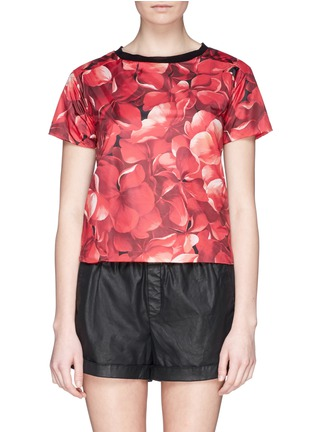 Main View - Click To Enlarge - Moncler - Flower print nylon top