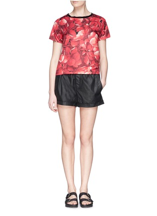 Figure View - Click To Enlarge - Moncler - Flower print nylon top