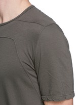 Irregular seam long T-shirt