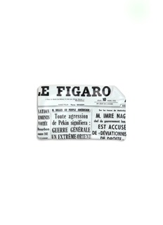 Fornasetti Giornale le Figaro large sheet ashtray