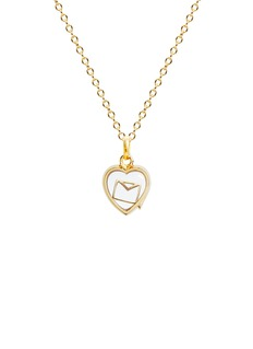 Loquet London 18k yellow gold envelope charm - Love Letters