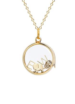 Loquet London-18k yellow gold diamond Hand of Fatima charm - Have Faith