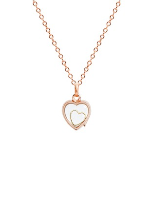 Figure View - Click To Enlarge - Loquet London - 18k yellow gold heart charm - With Love