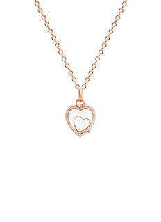 Loquet London 18k yellow gold heart charm - With Love