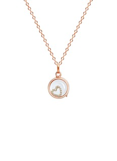 Loquet London 18k yellow gold diamond heart charm - With Love
