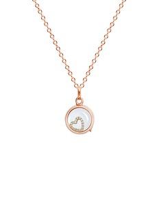Loquet London18k yellow gold diamond heart charm - With Love