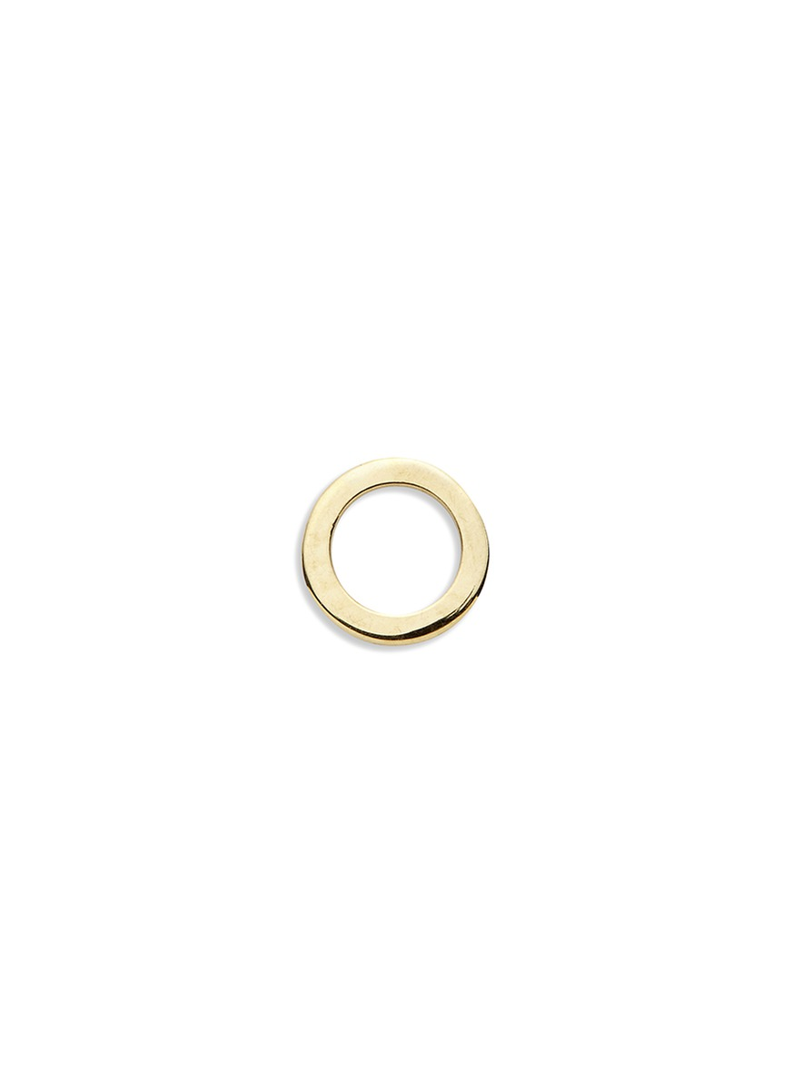 18k yellow gold circle charm – Give a Hug by Loquet London