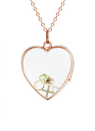 Figure View - Click To Enlarge - Loquet London - 18k yellow gold circle charm - Give a Hug