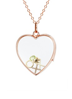 Loquet London18k yellow gold cross charm - Give a Kiss
