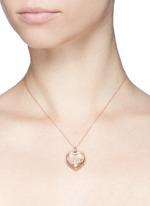18k yellow gold diamond cross charm - Give a Kiss