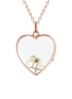 Loquet London 18k yellow gold diamond cross charm - Give a Kiss