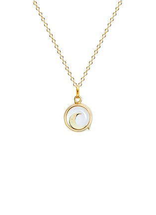 Figure View - Click To Enlarge - Loquet London - 18k yellow gold moon charm - Intuition