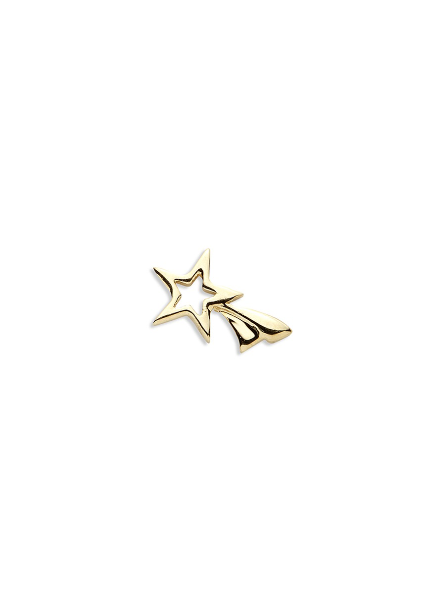 18k yellow gold shooting star charm – Make a Wish by Loquet London