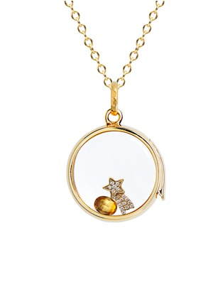 Figure View - Click To Enlarge - Loquet London - 18k yellow gold diamond shooting star charm - Make a Wish