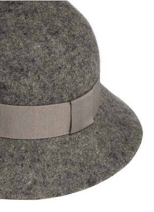 Detail View - Click To Enlarge - Stella McCartney - Wool felt cloche hat