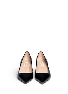 VALENTINO Point-toe leather pumps
