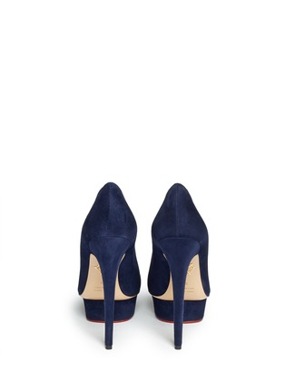 Back View - Click To Enlarge - Charlotte Olympia - 'Dolly' suede platform pumps