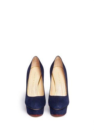 Figure View - Click To Enlarge - Charlotte Olympia - 'Dolly' suede platform pumps