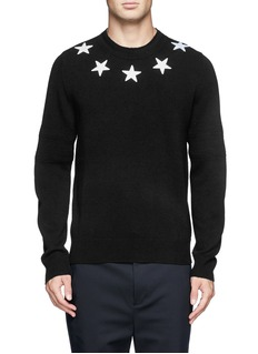 GIVENCHYStar appliqué wool sweater