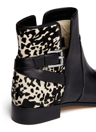 Detail View - Click To Enlarge - Michael Kors - 'Salem' pony hair leather boots