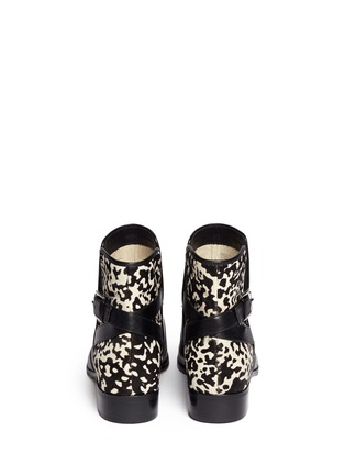 Back View - Click To Enlarge - Michael Kors - 'Salem' pony hair leather boots