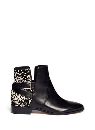 Main View - Click To Enlarge - Michael Kors - 'Salem' pony hair leather boots