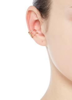 Xiao Wang'Stardust' diamond 14k yellow gold single ear cuff