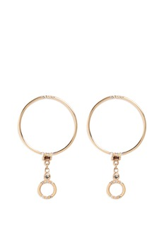 Xiao Wang 'Gravity' diamond 14k yellow gold hoop earrings