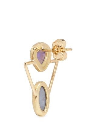 Detail View - Click To Enlarge - Xiao Wang - 'Galaxy' diamond opal stone 18k gold earrings