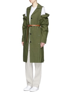 FFIXXED STUDIOSDetachable panel cotton coat