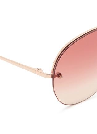 Detail View - Click To Enlarge - Linda Farrow - Top rim metal aviator sunglasses