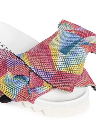 Detail View - Click To Enlarge - Joshua Sanders - Twist bow mesh slides